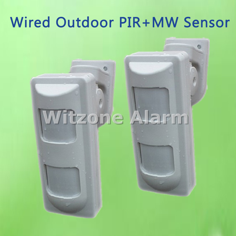 High Quality Outdoor Wired Dual PIR+Microwave Motion Detector Anti-mask PIR Sensor for Home Security Alarme Systems<br>