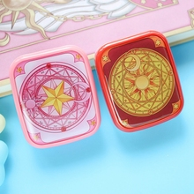 Japanese Anime Cardcaptor Sakura Card Captor Sakura CLOW CARD Contact Lens Glasses Nursing Box Case Mirror Cosplay Props