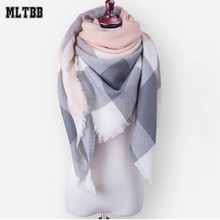 2017 New Winter Scarf For Women Female Shawl Warm Scarf Cashmere Scarves Women Winter Plaid Blanket Triangle Bandage Scarves