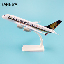 20cm Air Singapore Airlines Airbus 380 A380 Airways Plane Model W Stand Metal Airplane Model Aircraft Gift(China)