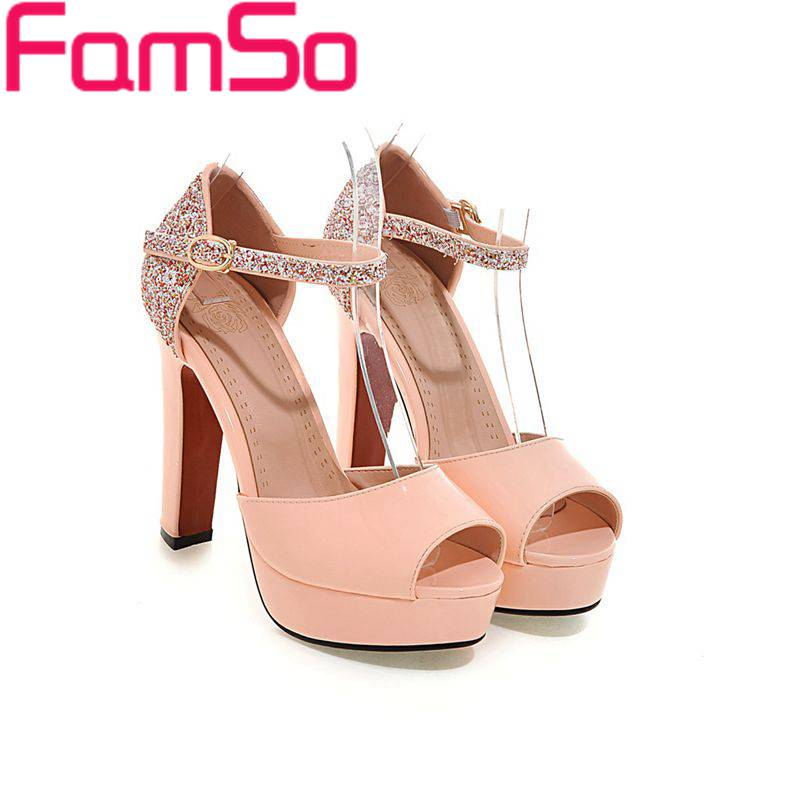Plus Size34-43 2017 new Shoes Women Sandals Red glitter Wedding Shoes Designer Female Leather Pumps Summer Office Sandals PS2348<br><br>Aliexpress