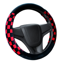 Winter Steering Wheel Cover Warm Sport Style 36 38 cm Auto Car Steering Wheel Cover With Environmental Skid Proof Inner Rubber(China)