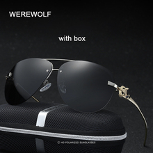 WEREWOLF Fashion Brand Designer Women Polarized Sun Glasses Cat Eye Leopard Woman UV400 Mirror Animal Top Rimless Punk Sunglass