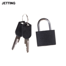 JETTING Suitcase Lock with 2 Keys Hot Sale New Black Small Mini Padlock Travel Tiny Wholesale low price