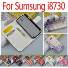 Cartoon case For Samsung Galaxy Express I8730 GT-I8730 leather case Printing flip cover for Samsung i8730 Mobile Phone Bag&Cases(China)