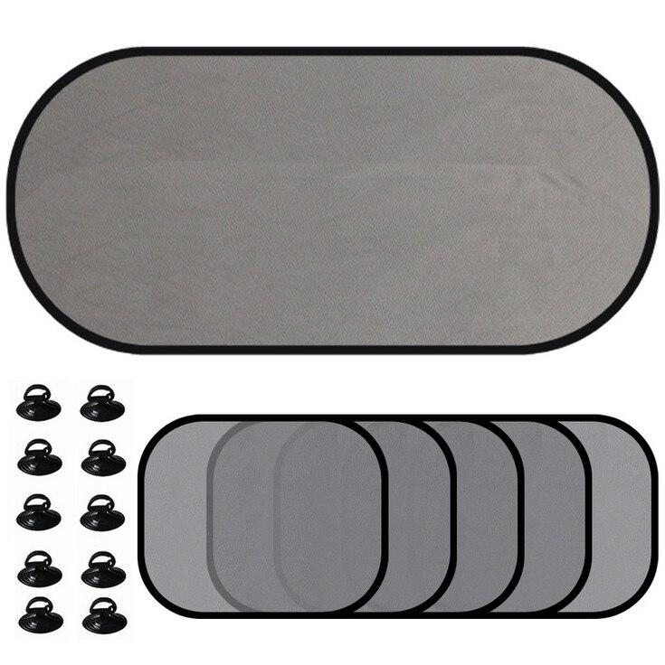 Yawlooc 5Pc/Set Black Auto Sun Visor Car Sun Shade Car Window Suction Cup Car Curtain Auto Sun Shade Car Styling Covers Sunshade