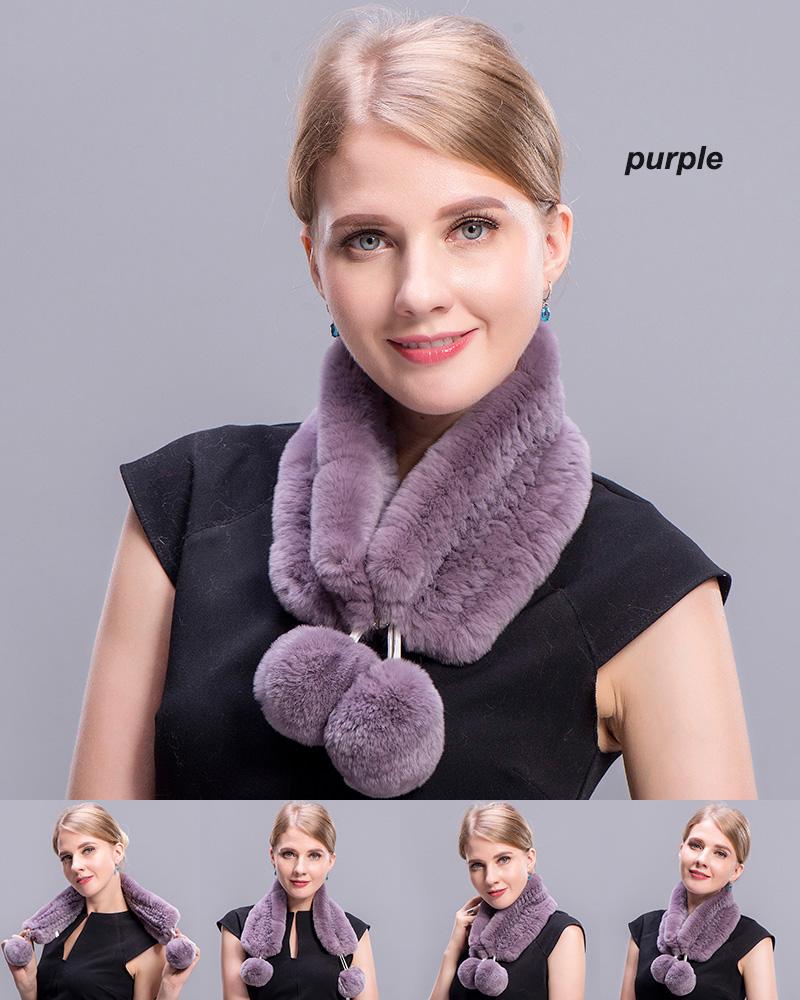 rex rabbit short scarf purple 4