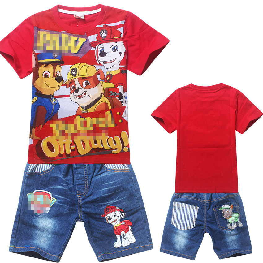 2017 New Boys Clothes Summer Children Short Sets Puppy Dog Patrol Kids Clothing Kleding Jongens Set Conjuntos Nino Verano Ropa<br><br>Aliexpress