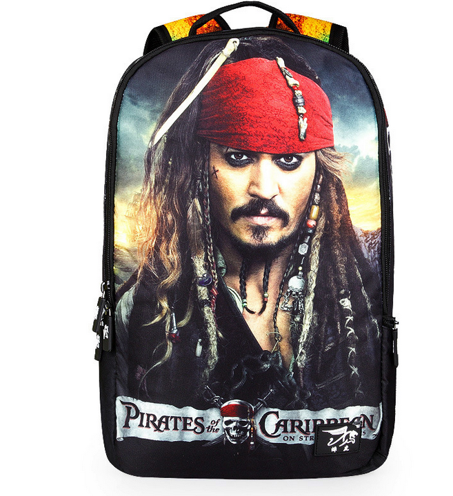 18 Inch Student School Bag Pirates of the Caribbean Backpack Polyester Men Travel Bag Man Casual Notebook Bags Laptop Backpacks<br><br>Aliexpress