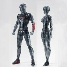 Black lucency Special edition ferrite figure male and female 2 style action painting Mannequin model figure boxed 15cm T7378(China)