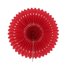 "6pcs 8""(20cm) Red Paper Fan Flower Folding DIY Paper Crafts For Wedding Event Party Decoration Supplies"