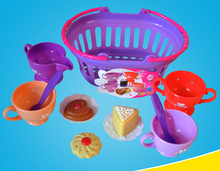 Pretennd play kitchen toy children plastic simulation food educational afternoon tea set coffee dishes dessert lovely gift girl(China)