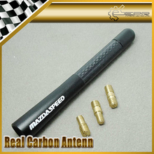 "New Short Aerial Car Antenna Matt Back 12CM/4.8"" Carbon For Mazdaspeed MAZDA3 MAZDA6 MX5 CX5 CX7 323 626 CX9 RX8 Car Styling"