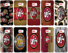 San Francisco 49ers Painting plastic Hard Cover For Samsung Galaxy S2 S3 S4 S5 Mini S6 S7 Edge Plus Note 3 4 5 Mobile Cell Case(China)