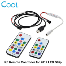 Dream Color RF Remote Controller 14Key / 17Key With DC Connector And USB Connector DC5V-24V For WS2812 WS2811 LED Strip(China)