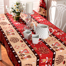 Factory Outlet Wedding Cloth Moore Manor Christmas Tablecloth Boy Girl Cartoon Party Table Runner Cotton Fabric Cover Overlay(China)