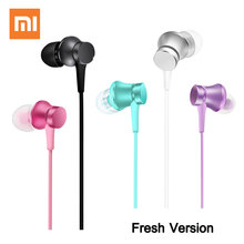 Big promotion Original Xiaomi Mi Earphone Piston Fresh Version In-Ear 3.5mm AUX with Mic Wire Control for mobile phone