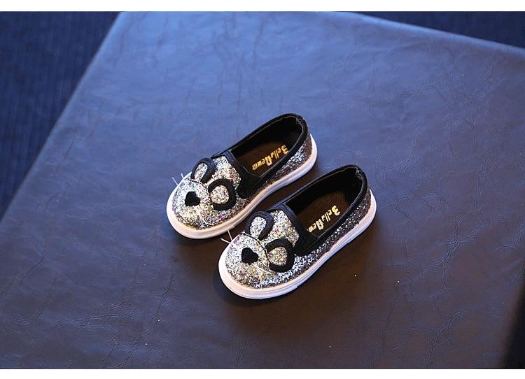 Cute Kids Girls Shoes 17 New Autumn Cartoon Bunny Cat Princess Flat Fashion Toddler Baby Girls Sneakers Children Casual Shoes 9