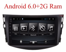 NEW !!!Android 6.0 car dvd player for Toyota RAV4 Rav 4 2007 2008 2009 2010 2011 2 din 1024*600 car dvd gps navigation wifi rds