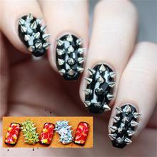 100Pcs 2.5mm*2mm Punk Simple Spike Rivet Stud UV Gel Fashion Cool Nail Art Decoration 3 Colors(China)