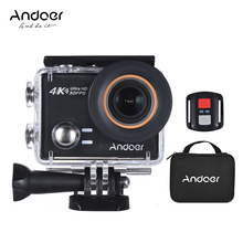 Andoer AN100 Action Camera 4K Sports Camera WiFi Waterproof 30MP 1080P/120fps 170 Wide Angle 45m w/Remote Control Hard Case(China)