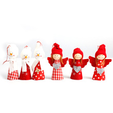 Christmas Decorations For Home  Xmas Tree Decorations Snowman Angel Ornament Holiday Small Gift Dolls Red natal decora o Navidad
