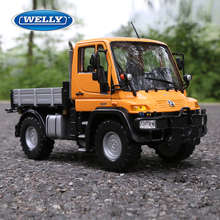 Welly 1:24 Unimog U400 car model tractor alloy diecast collection Toy boy gift truck original military Agriculture Off-road