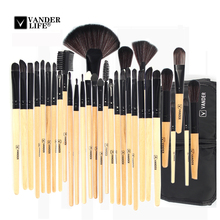 Stock Clearance !!! 32Pcs Makeup Brushes Professional Cosmetic Make Up Brush Set The Best Quality Foundation Beauty Tool(China)