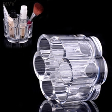 DIVV Women's Fashion Beauty Designer Cosmetic Box Plum Flower Clear Acrylic Shaped Cosmetic Lipstick Brush Holder Makeup #