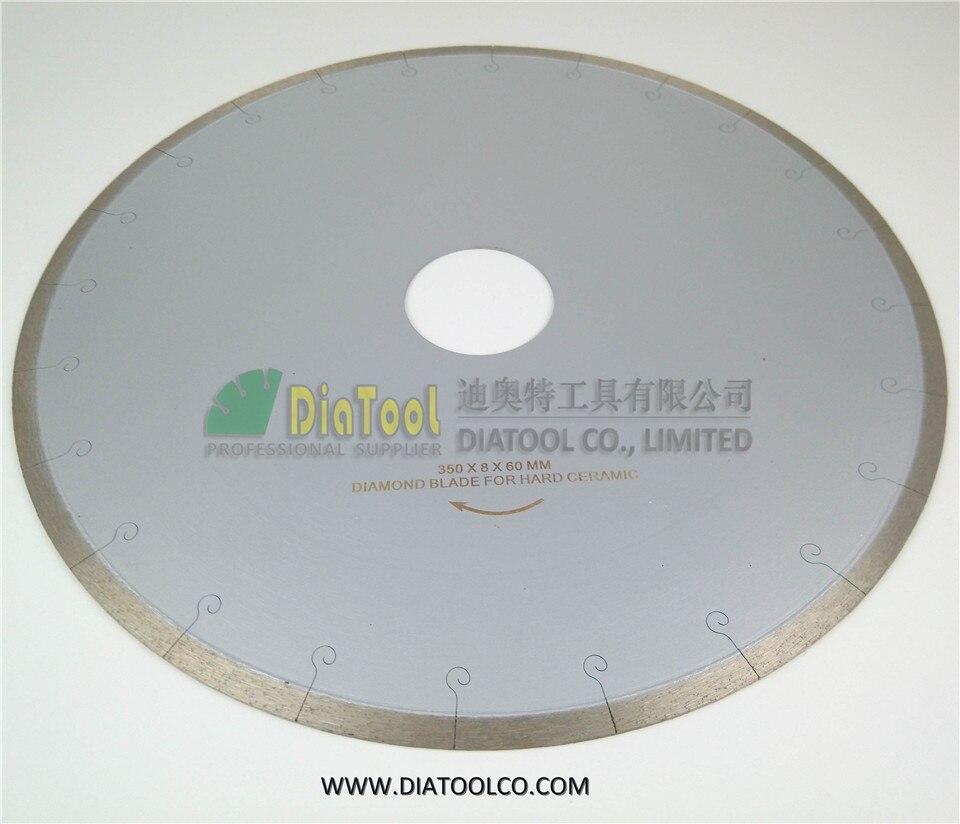 DIATOOL 2pcs 350MM Diamond Blades For Ceramic/tile With Hook Slot. Ceramic Blades With Hook Slot, Chip-free Professional Quality<br>