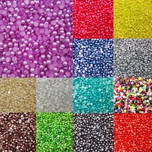 LNRRABC 300 piece/lot 6MM Half Round Acrylic Imitation Pearl  for Jewelry Making Decoration Nail Art Phone