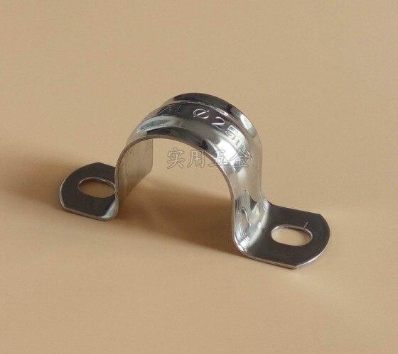 Collier de Serrage 16mm 20pcs 16//20//25//32mm PPR Forme en U Collier de Fixation pour Tuyau avec Fixation /à Vis