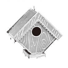 Free Shipping puzzle toys  bird house Model scale model kit kids diy craft kits 3D DIY Metallic Puzzle juguetes educativos Toys