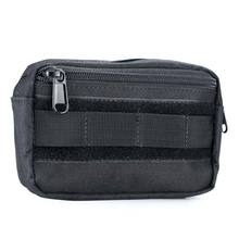 Durable Outdoor Camping Hiking Climbing Bag Tactical Utility Zipper Pouch Military Hip Waist Belt Wallet Pouch Purse Phone Case