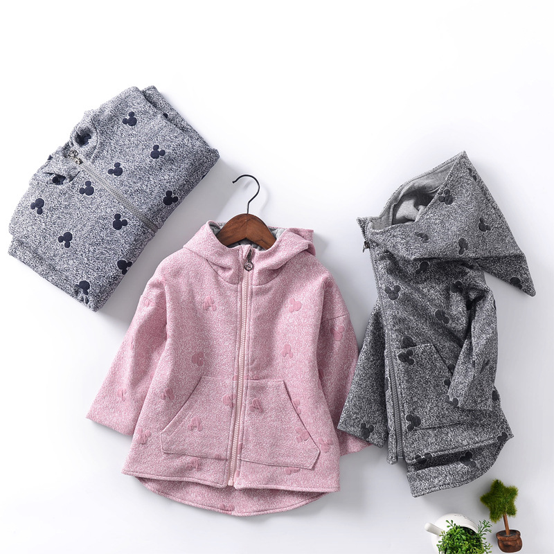 Winter Children Clothes  2017 Spring Girls Pure Cotton Coats Thicken Warm Cartoon Hooded Jacket Kids Boys Outwear <br>