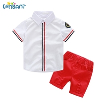 LONSANT Brands Newborn Baby Boy Clothes Summer 2017 Cotton T Shirt Jeans Shorts Kids Clothes Boys Clothing Set Dropshipping 1-7Y