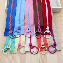15CM 20 PCS Bump The Color 3# Resin Zippers Lifting Ring Quoit Zipper DIY Handmade Accessory Sewing Craft Bag Garment Material