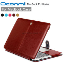 PU Leather Case For Apple macbook Air Pro with Retina 11 12 13 15 inch For Macbook Pro 13 laptop leather case for Macbook Air 13(China)