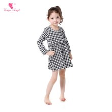 2017 Houndstooth Girl Dress Long Sleeve Printed Toddler Girls Boutique Clothing Kids Dresses Spring Dresses Kids Clothes Party