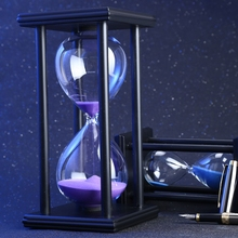 45 Minutes 8.06 inch Colorful Hourglass Sandglass Sand Clock Timers Wooden Frame Creative Gift Modern Home Decorations Ornaments