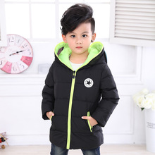Kids Winter Clothing Baby Boys Down Jackets Thicken Long Sleeves Cartoon Altman Girls Keep Warm Down Coat Removable Glasses
