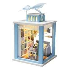 Hot Sale DIY Doll House Wooden Miniatura Doll Houses Miniature dollhouse With Furniture LED Lights Birthday Gift M023(China)