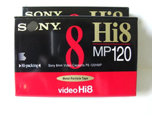 Original S-Brand Hi 8MP 120 Recording Blank 8mm Video Cassette Tapes.
