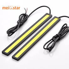 2Pcs 2016 update Ultra Bright LED Daytime Running lights DC 12V 17cm Waterproof Auto Car DRL COB Driving Fog lamp car styling