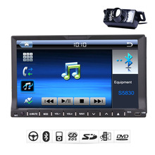 In Deck System Car DVD Player Video Car Stereo Radio Movie MP4 Sub Multimedia MP3 BT Logo Receiver PC Backup Camera
