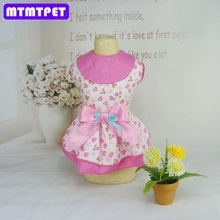 MTMTPET 2017 new dogs cats lovely printed pink princess dress doggy summer style dresses clothes puppy dress costume  S M L XL