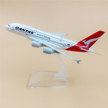 16cm Alloy Metal AIR Australian Qantas A380 Airlines Aircraft Airbus 380 Airways Airplane Model Plane Model W Stand Gift(China)