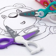High quaility security cut only paper shears toys classic pretend play tool KIDICUT   fiberglass Scissors toys gift
