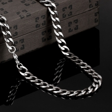men cool 8mm width 22inchs long chains N057 hot China supplier latest design 316L stainless steel fashion Necklace