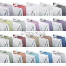 "20Pcs/lot Soft Sheer Organza Table Runners 12"" x 108"" Chair Bows Swag Wedding Event Xmas Party Banquet Table Decor 19Colors"